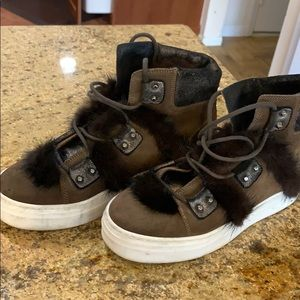 Meline High Tops with Faux Fur